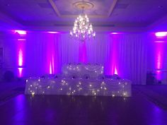 Purple accent lighting & our curtains at Bel Aire Hotel from www.erieuplighting.com