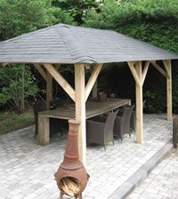 <p> Superior Gazebo measuring 3.4x5.9m. Perfect for entertaining and…