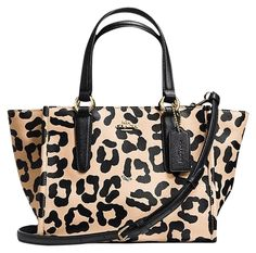 Coach Crosby Mini Carryall OCELOT Tote Bag. Get one of the hottest styles of the season! The Coach Crosby Mini Carryall OCELOT Tote Bag is a top 10 member favorite on Tradesy. Save on yours before they're sold out!