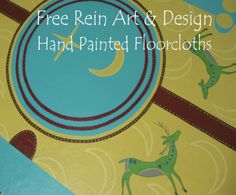 Making Floorcloths | Welcome to Free Rein Art and Design Floor Cloth, How To Make, Free, Painting, Design, Painting Art, Paintings, Painted Canvas, Drawings