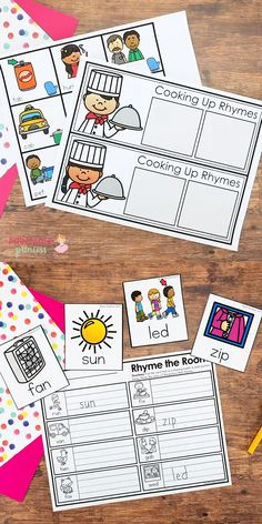 Rhyming Activities for Kindergarten