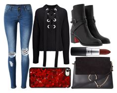 """""""street style"""" by sisaez ❤ liked on Polyvore featuring WithChic, Joseph, Christian Louboutin, Chloé and MAC Cosmetics"""