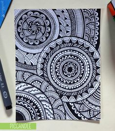 Doodle - Circular Pattern Design. #doodle #design #pattern www.youtube.com/piccandle
