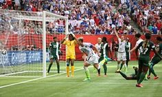 Abby Wambach steals in to put USA in front.