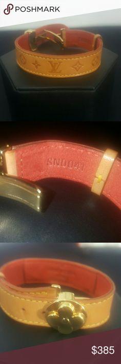 Spotted while shopping on Poshmark: 100%  authentic Louis Vuitton leather bracelet! #poshmark #fashion #shopping #style #Louis Vuitton #Jewelry