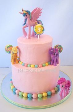 Ellie's birthday cake my little pony cake birthday party cake girl pink blue rainbow