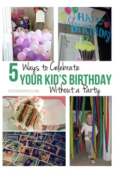 You don't have to throw a big party to make your kid feel special for his or her birthday. Try these 5 ways to celebrate birthdays without a party. Birthday Surprise Kids, Birthday Morning Surprise, Special Birthday, 10th Birthday, Birthday Fun, Birthday Party Themes, Birthday Ideas For Kids, Birthday Pranks, Birthday Surprises