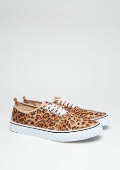 Leopard Canvas Low Tops   Footwear   rue21