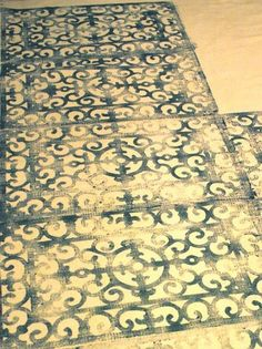 How To Make a Block Print Rug Using a Welcome Mat from http://www.apartmenttherapy.com/