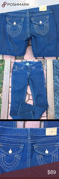"""True Religion Dark Wash Jeans Size 29 Size 29. Inseam: 34"""". Bootcut. Super gently preowned. RN # 112790. CA# 30427. Be sure to view the other items in our closet. We offer both women's and Mens items in a variety of sizes. Bundle and save!! Thank you for viewing our item!! True Religion Jeans Boot Cut"""