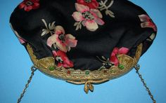 1920s Art Deco Egyptian Revival silk purse with snake par MeMeWorld, $94.00