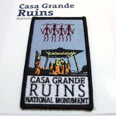 Official Casa Grande Ruins National Monument Souvenir Patch Arizona Park