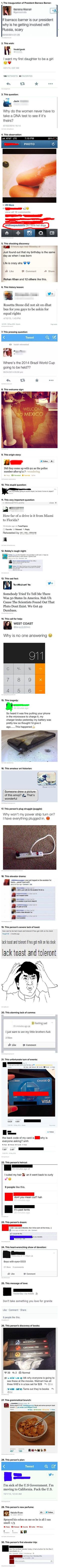 Here are 30 of the dumbest, yet real, things that people have posted online. Hahaha number 19 http://ibeebz.com