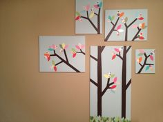 I made this tree for Aspen's room just before she was born.