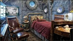 Steampunk Bedroom Theme Interior Home Decor