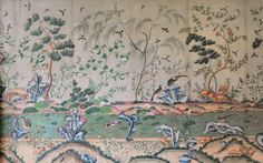 250 year old wallpaper uncovered at Woburn Abbey—The Telegraph. The Duke imported the luxury wallcovering from China but after his death in 1771 it was papered over and forgotten until the recent discovery of an invoice dated 1751. Click image to read full article.