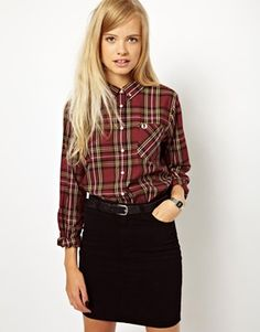 Fred Perry Checked Shirt ... the whole look in fact :) love me some FP!!