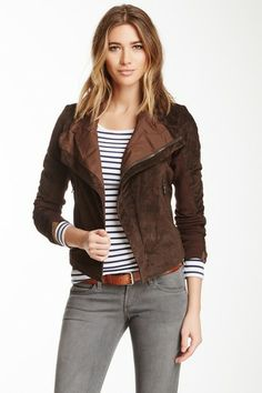 Suede Asymmetrical Jacket by Non Specific on @HauteLook