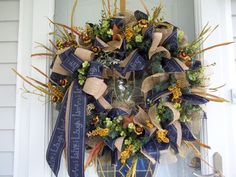 Primitive~Live~Laugh~Love~ Door~Wall Wreath~Mesh~ Mini Burlap Sunflowers~Bow #Handmade Door Wall, Live Laugh Love, Mesh Wreaths, Deco Mesh, Sunflowers, Primitive, Burlap, Bows, Halloween