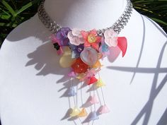 Flower Garden Chainmail Necklace by RingedDesigns on Etsy, $59.98
