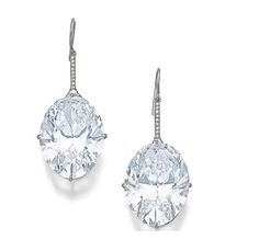 PAIR OF MAGNIFICENT DIAMOND EARRINGS