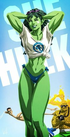 The Very Best of Women in Comics — The Sensational She-Hulk by the artist known as. Marvel Comics Art, Marvel Comic Universe, Hulk Marvel, Anime Comics, Marvel Heroes, Avengers, Ms Marvel, Captain Marvel, Marvel Women