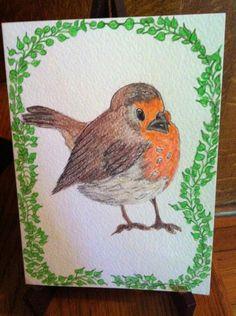 Chunky Robin on gift card by Theresa Groom