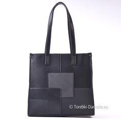 Czarna torba shopper na ramię, mieści A4 - Cena promocyjna, wysyłka w 24 godziny. Zapraszamy do sklepu internetowego i stacjonarnego. Zobacz zdjęcia i sprawdź cenę - Kliknij http://torebki-damskie.eu/czarne/1332-prostokatna-torba-shopper-na-ramie-czarna.html
