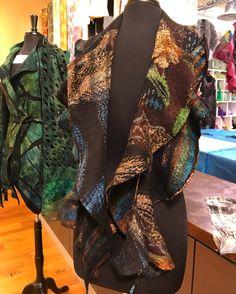Nuno felted spiral scarf.