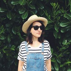 summer stripes & overalls