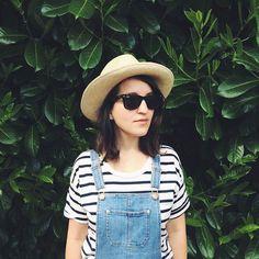 summer stripes & overalls