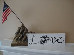 Love - Marines Wood Sign, Military, Marine Corps, USMC Marines Home Decor by DeannasCraftCottage on Etsy