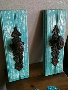 turquoise bathroom - towel hanger.  Sarah, we have these in-stock!  Perfect for your bathroom remodel  :)