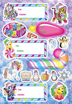 Urban Outfitters - Blog - Free Lisa Frank Holiday Sticker Set!