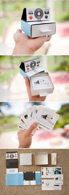 Creative promotional poloroid mailer from Photojojo. Great idea for birthday, wedding, events in life, also for DIY, idee für marketing, packaging