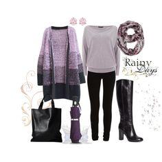 Día gris by ulstblog on Polyvore featuring moda, VILA, Brooks Brothers, Swarovski, Kelly & Katie and Steve Madden