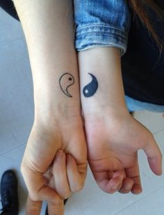 OMFG I THOUGHT OF THIS JUST LIKE # SECONDS AGO AND NOW I SEE THIS same IDEA !!!!!!!!!!!!!!!!!!!!!!Ying Yang best friend tattoo.... @casperrr420