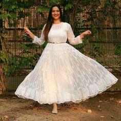 Anarkali Dresses Pakistani New Fashion Party Wear Suit With Chain Stich Work KD