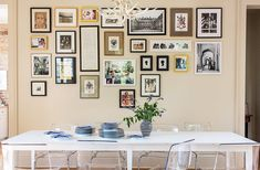 Art display idea: A dining room gallery wall looks amazing with mixed frames and prints in an array of neutrals and styles! Tour more of Sara Ruffin Costello's Striking and Stylish New Orleans Home on Our Style Guide here. Rustic Walls, Rustic Wall Decor, Hanging Artwork, Hanging Frames, Hanging Photos, Southern Living Homes, New Orleans Homes, Up House, Love Home