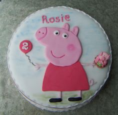 Peppa pig cake - Chase is obsessed!!
