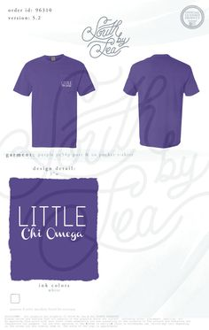 Chi Omega | Chi O | Big Little | South by Sea | Sorority Shirts | Sorority Tanks | Greek Shirts