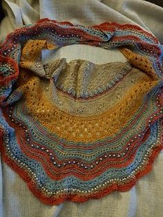 Continuing my exploration of microscopic cross sections, here is another shawl in my series! (Section Tranversale is the first)