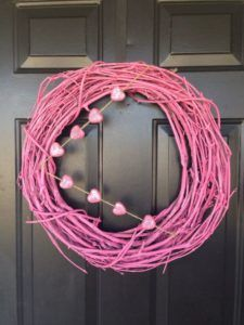 This cute pink grapevine wreath is a great way to celebrate Valentine's Day. The wreath measures approximately Decorated with pink glitter hearts. Valentine Day Wreaths, Valentines Day Decorations, Valentine Heart, Christmas Decorations, Holiday Decorating, Decorating Ideas, Diy Wreath, Grapevine Wreath, Wreath Ideas