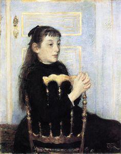 Portrait of Camille van Mons, 1886  , by Theo van Rysselberghe