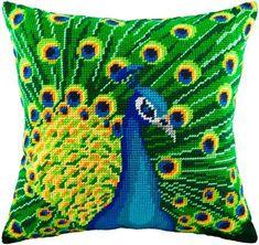 Point de croix Peacock taie d'oreiller kit par BeadEmbroideryKits