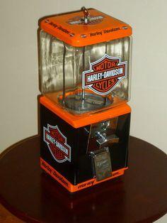 Vintage Northwestern HARLEY DAVIDSON Gumball Machine-i LOVE this!