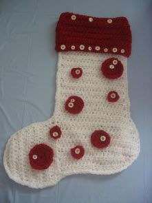 Button Christmas Stocking