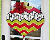 Christmas Ornament Wood Cut Out Door Hanger