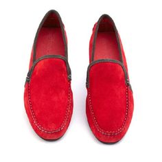 Nantucket Red Suede Loafers from the irresistible Pinucci, Italian shoes at their best. £125