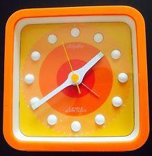 Relógio Ritmo Era Espacial 1970 Relógio De Mesa Panton Era